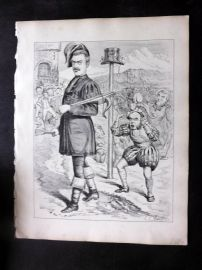 E. C. Mountfort - Dart 1880's Political Cartoon. Caucus Hat